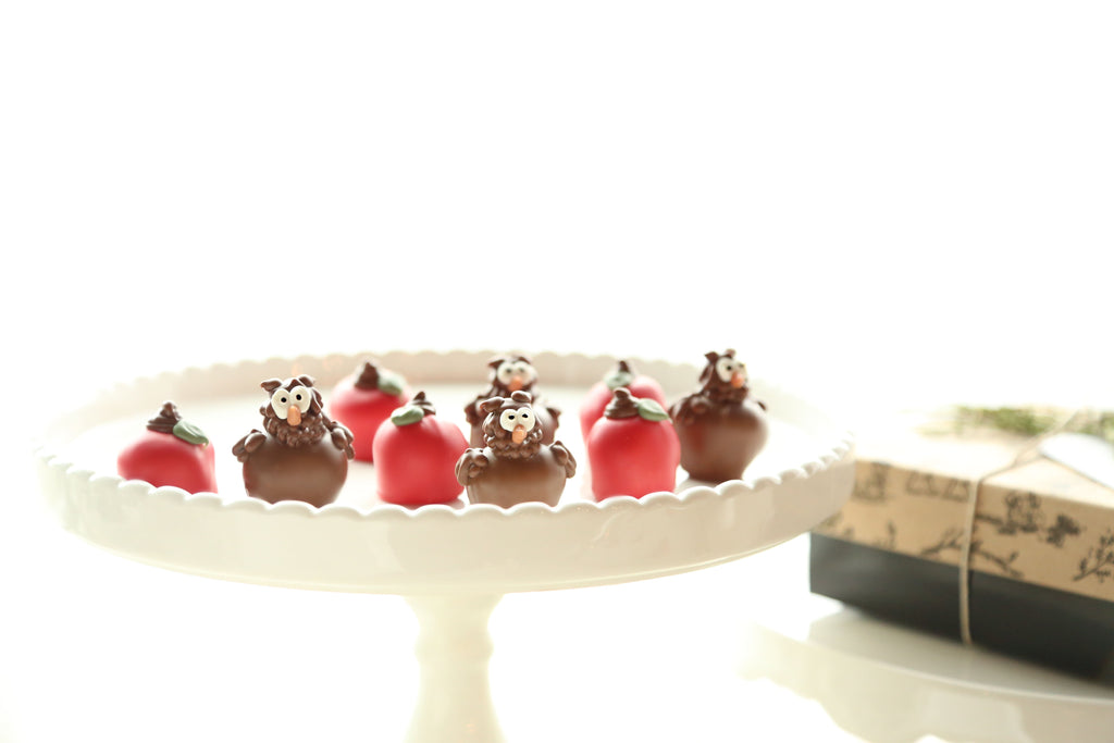 Cordial Cherries ~ 9-Piece Gift ~ Apples and Owls