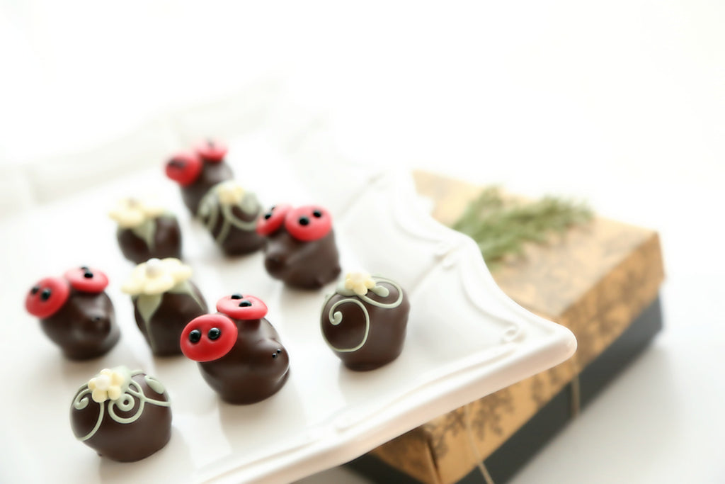 Ladybugs and Daisies Cordial Cherries Gift