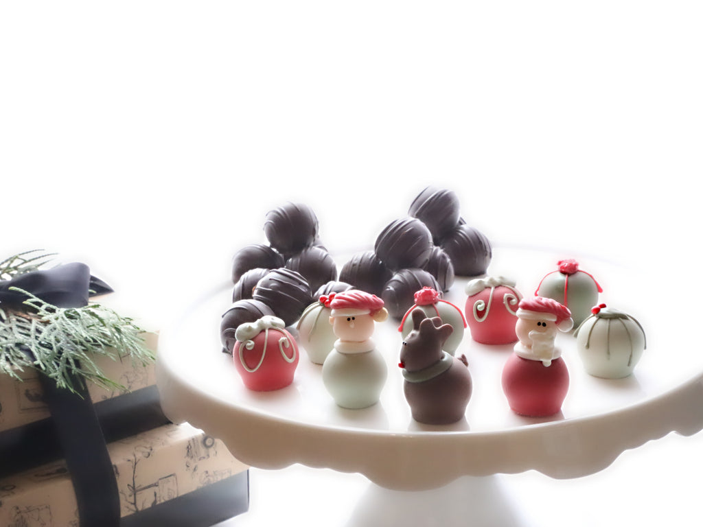 Chocolate Christmas Eve Truffles 2-Tier Gift