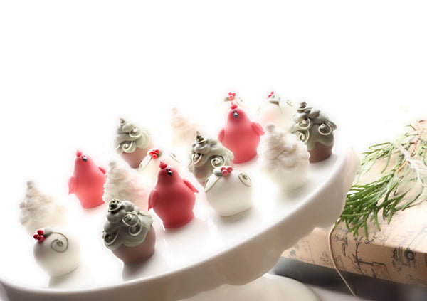 Chocolate Christmas Garden Truffles 16-Piece Gift