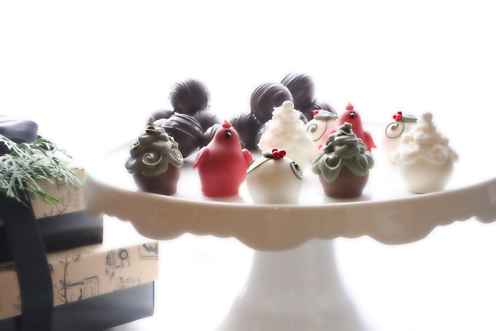 Chocolate Truffles ~ 2-Tier Gift Tower ~ Christmas Garden