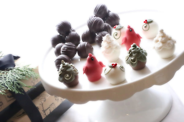 Chocolate Christmas Garden Truffles 2-Tier Gift