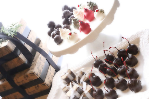 Chocolate Christmas Garden Truffles 4-Tier Gift