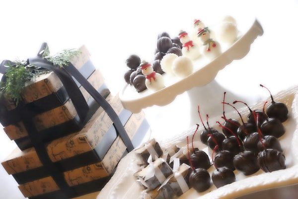Chocolate Truffles ~ 4-Tier Gift Tower ~ Snowmen and Snowballs