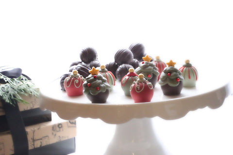 Chocolate Truffles ~ 2-Tier Gift Tower ~ Christmas Trees and Ornaments