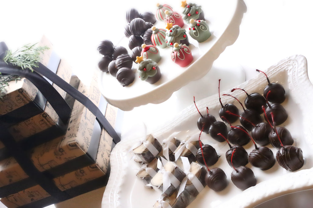 Chocolate Truffles ~ 4-Tier Gift Tower ~ Christmas Trees and Ornaments
