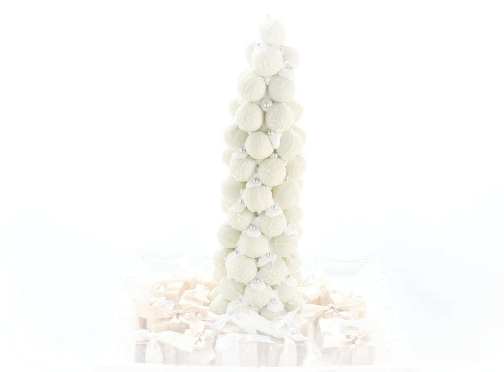 White Chocolate Rum and Champagne Truffle Tree