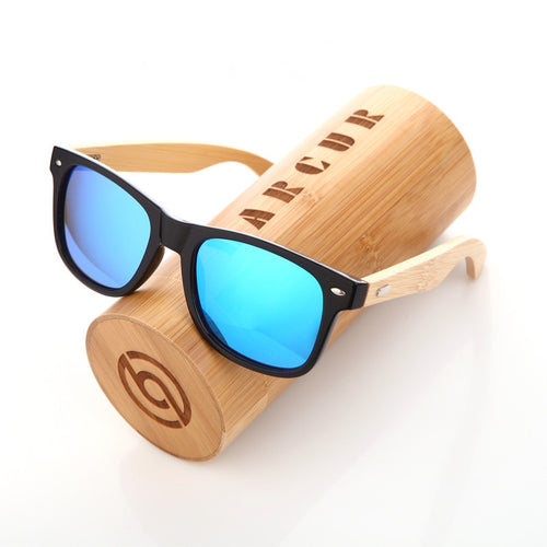 BARCUR New Handmade Bamboo wooden Polarized Sunglass Retro Men Women Beach Sun glasses gift