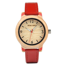 Load image into Gallery viewer, Wood Watch Men Bamboo - Metal Ladies Wristwatch with Leather Band Silicone Strap Customized Logo