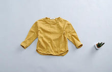 Load image into Gallery viewer, Kids Basic Long Sleeve Tee Mustard