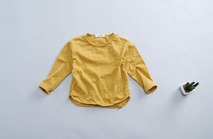 Kids Basic Long Sleeve Tee Mustard
