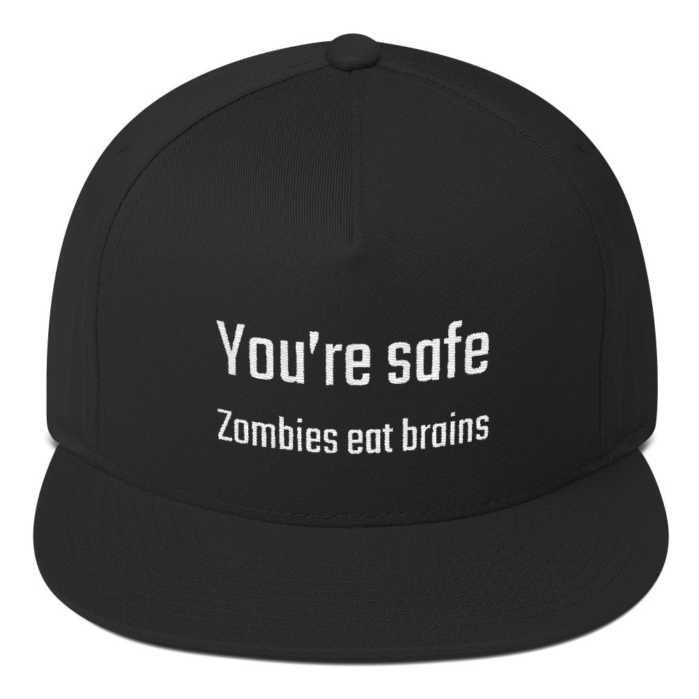 You're safe...Zombies eat brains - PITS