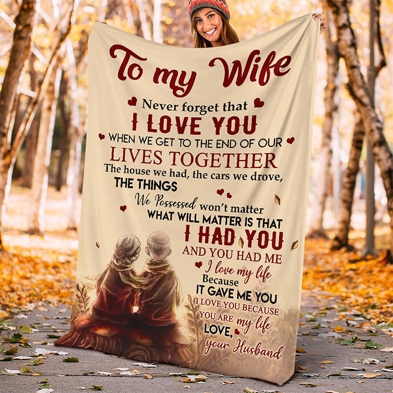 To My Wife Love Letter Blanket Ⅰ