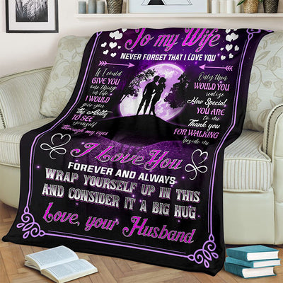 To My Wife Love Letter Blanket Ⅱ