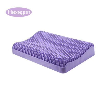 Super Gel Pillow No pressure pillow TPE pectin neck pillow gel black technology honeycomb pillows
