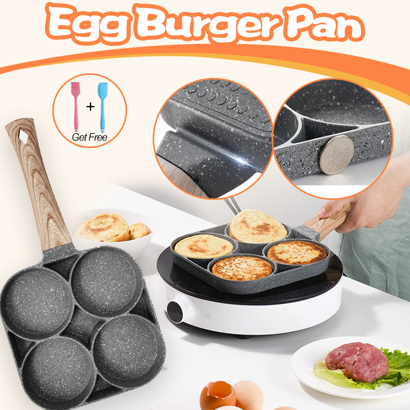 Non Stick 4-Cup Egg Frying Pan for Frying Eggs, Bacon and Burgers
