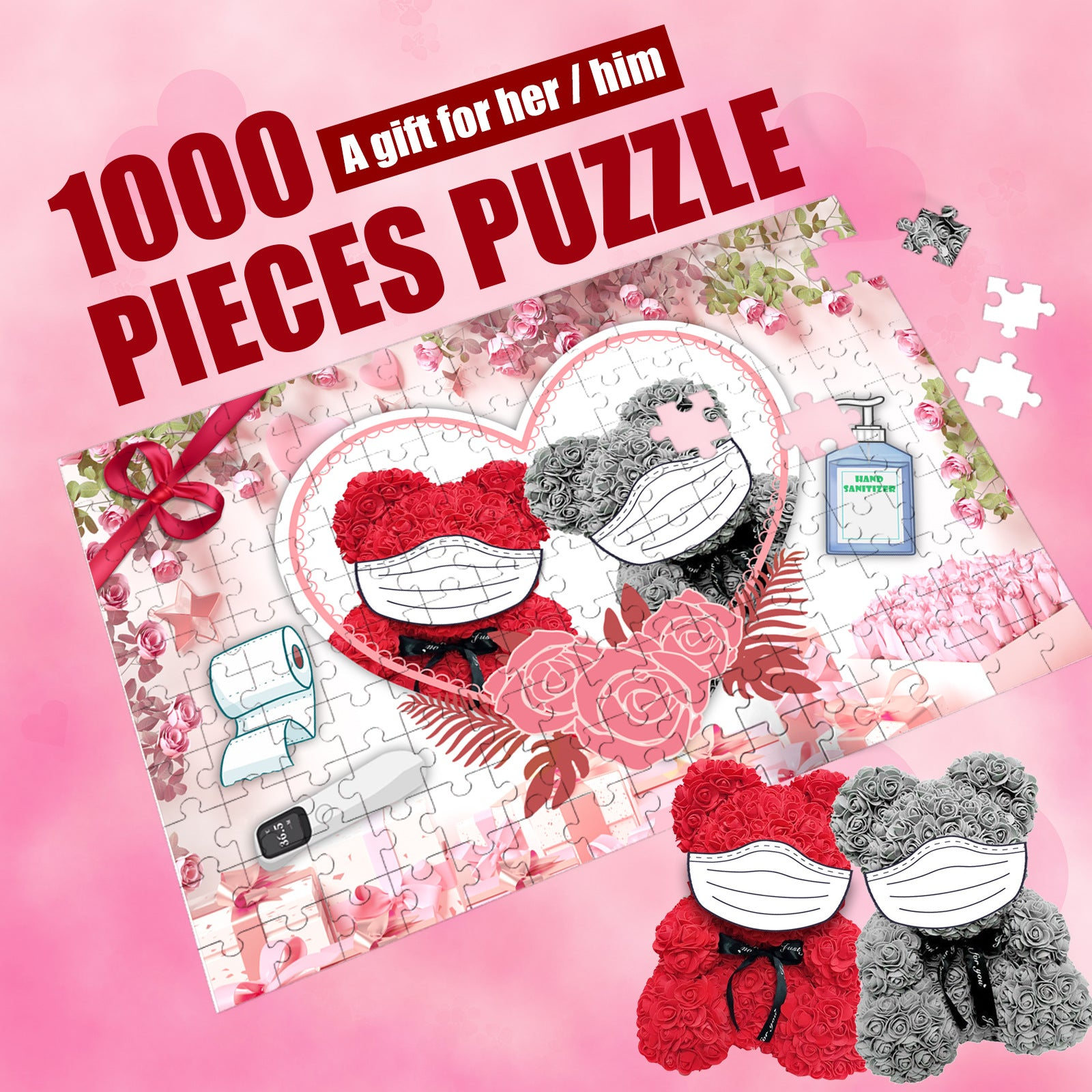 2021 I Survived! Memorial puzzle Valentine's Day Jigsaw Ⅰ
