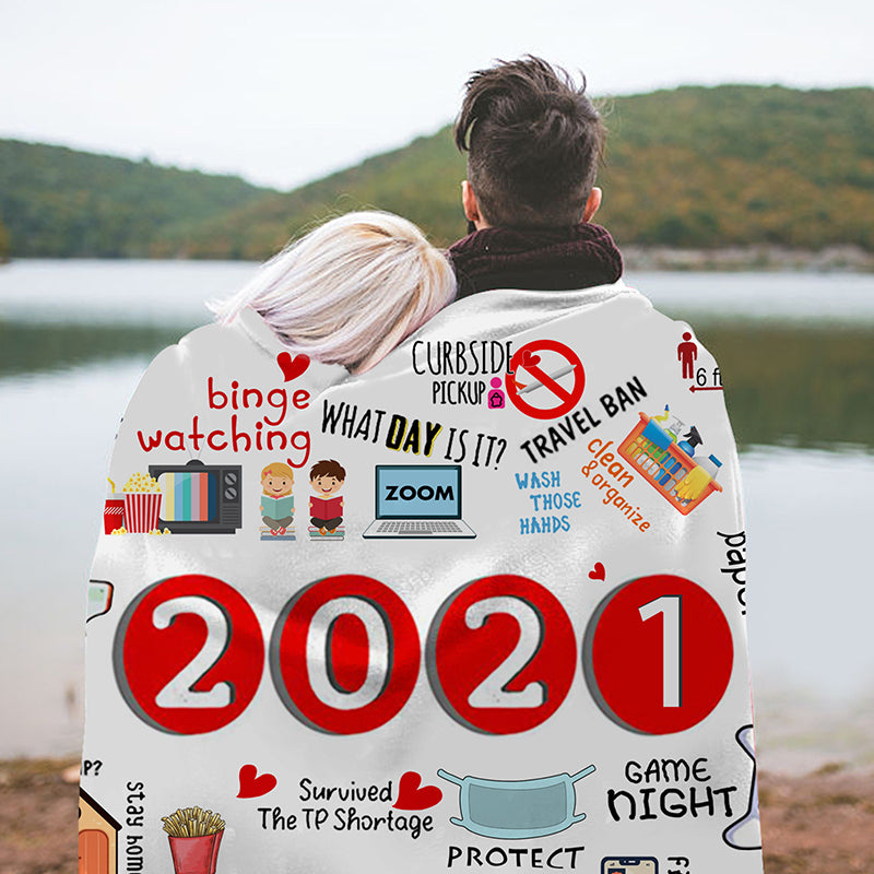2021 I Survived! Commemorative Blanket