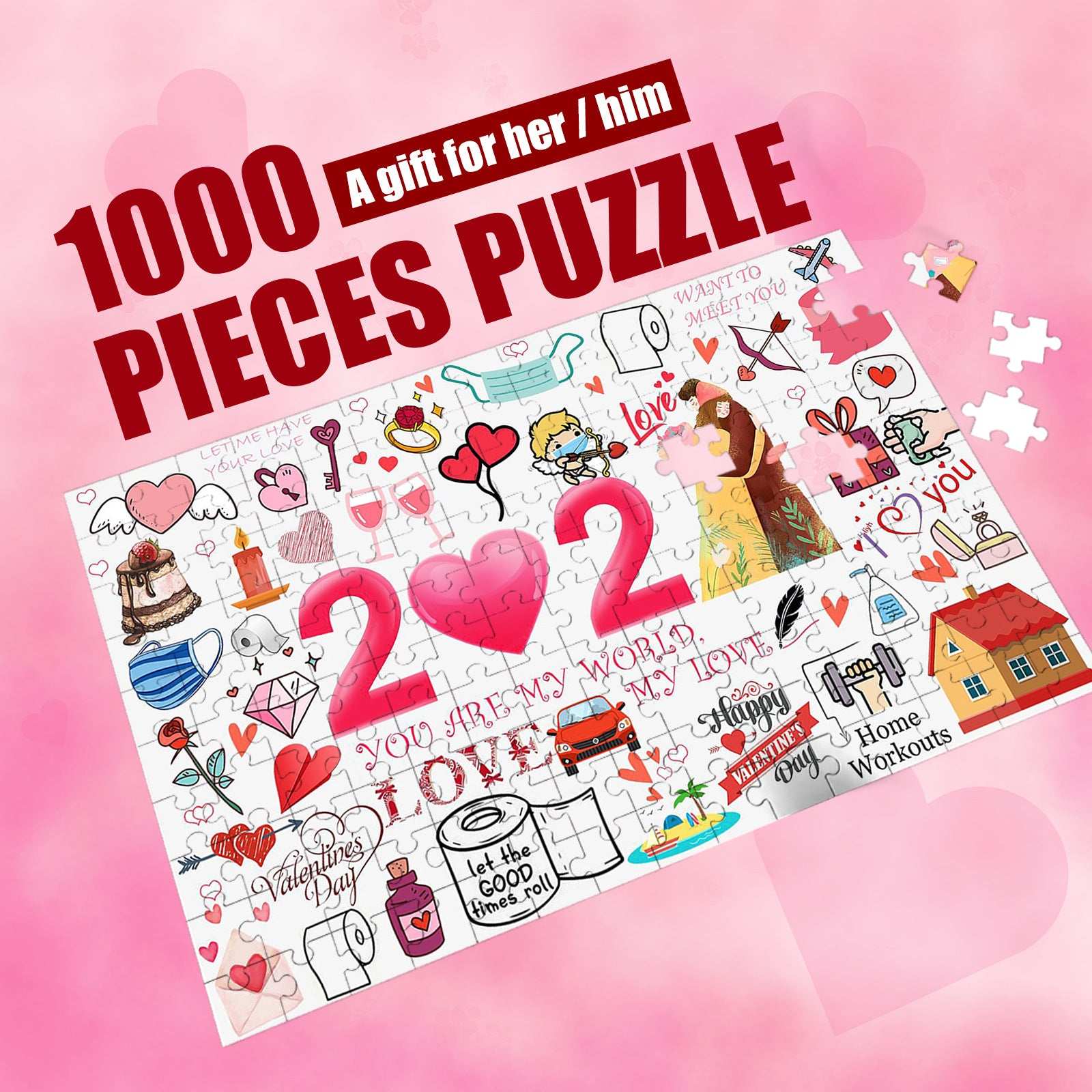 2021 I Survived! Memorial puzzle Valentine's Day Jigsaw Ⅲ