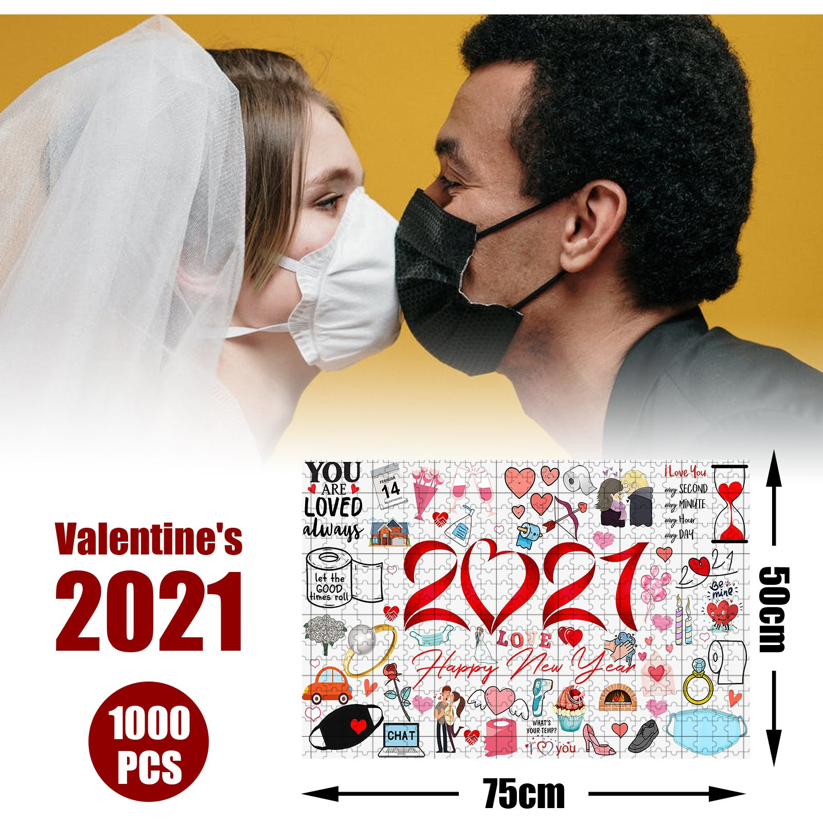 2021 I Survived! Memorial puzzle Valentine's Day Jigsaw Ⅱ