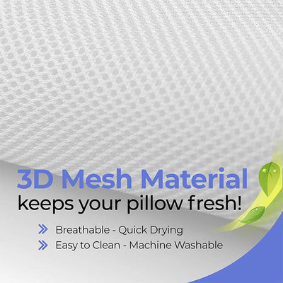 Bathtub Pillow with 4D Air Mesh Technology and 6 Suction Cups