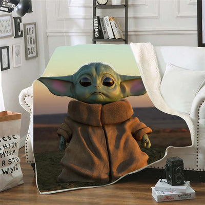 Baby Yoda 3D Vision Blanket