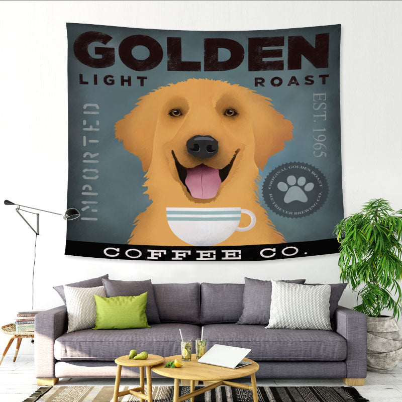 Cute Dog Tapestry Wall Hanging Blanket