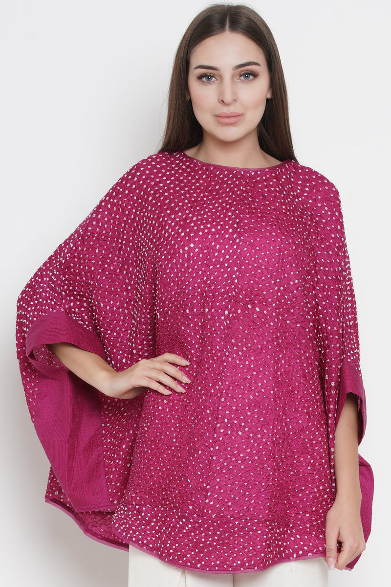 Crushed Bandhani Cape Top