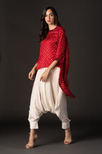 Load image into Gallery viewer, Bandhani Asymmetric Top with mirror & beadwork