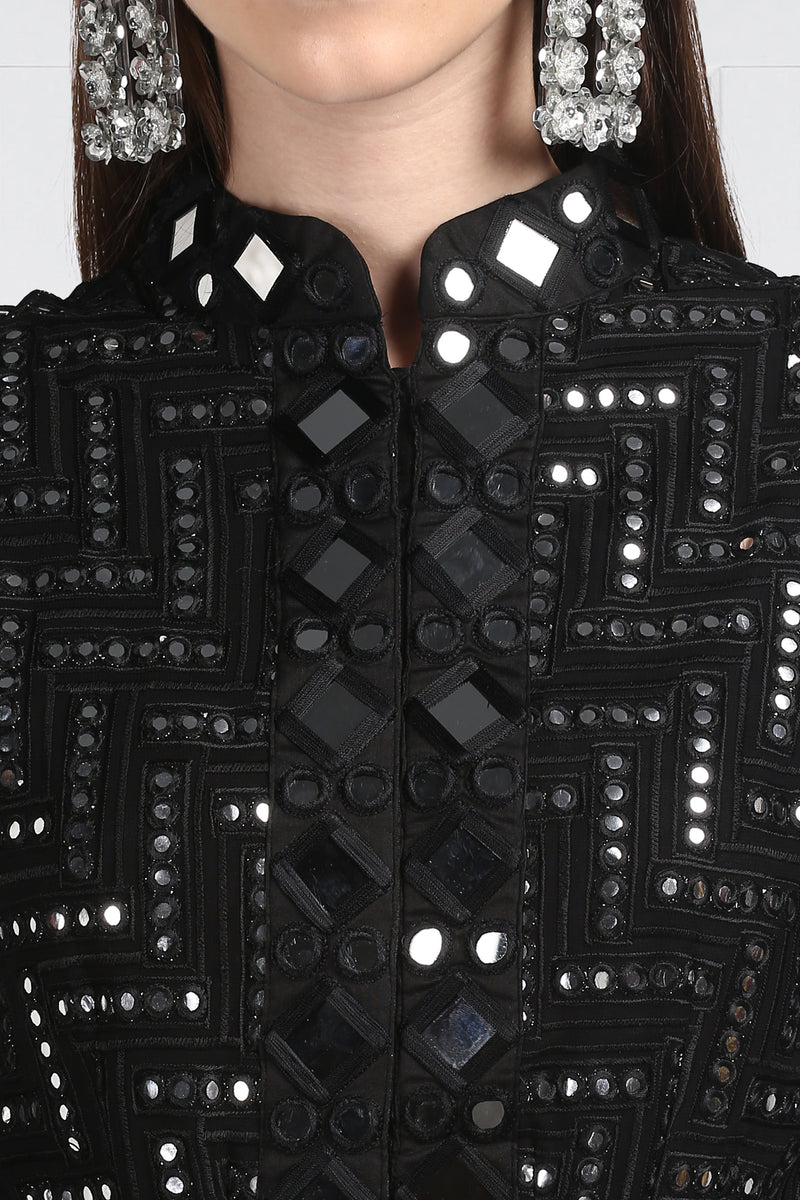 Mirrorwork Peplum Jacket