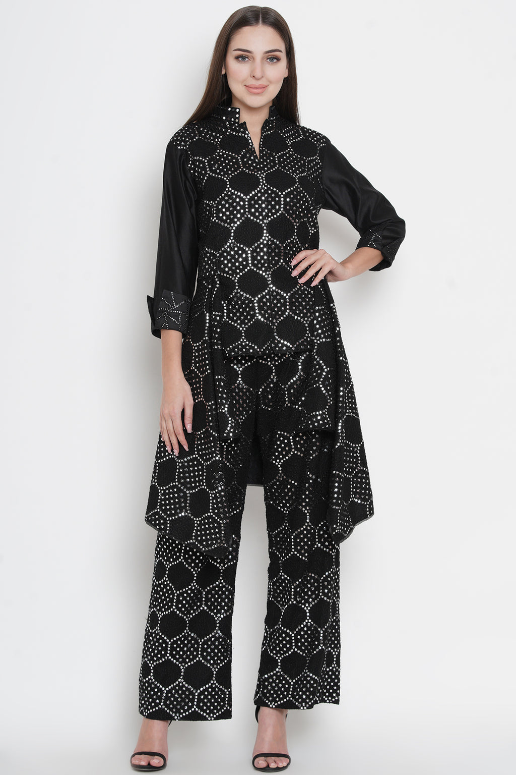 Mirrorwork Asymmetrical Jacket