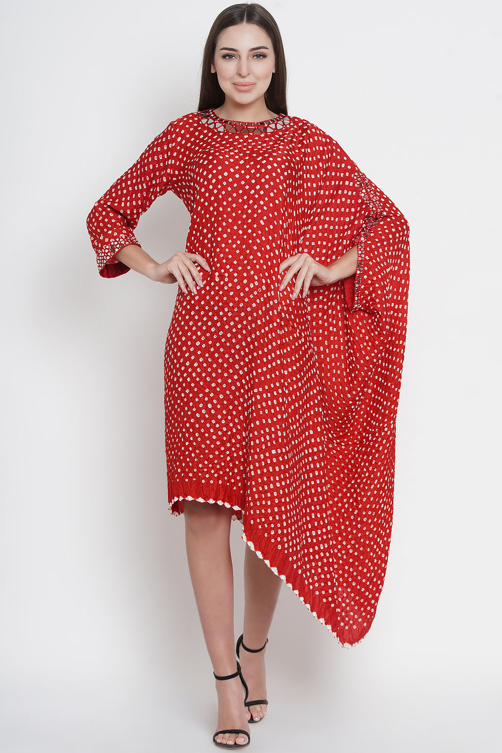 Bandhani One Sleeve Dress