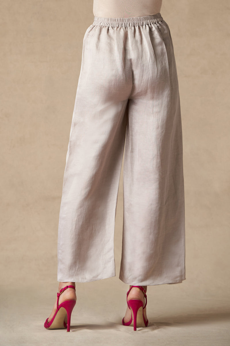 Linen Satin Wrap Around Patti Pants