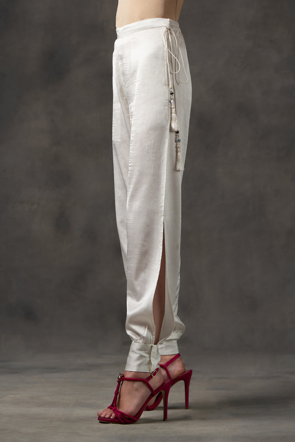 Long side slit dhoti pants