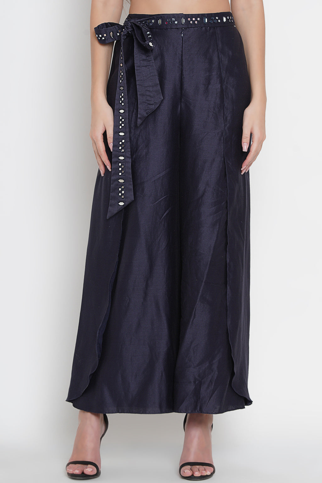 Palazzo Pants with Mirrorwork Belt