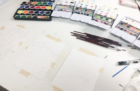 Sketching your Watercolor