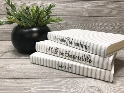 Fabric Covered Quote Books