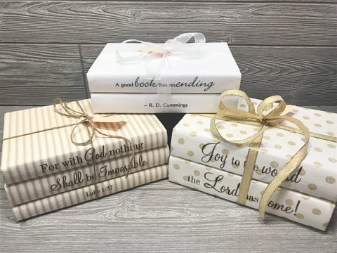 Gift Quote Book Sets Wrapped with Ribbon