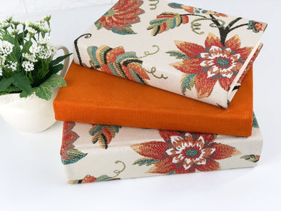Fall Shelf Decor / Orange Home Decor
