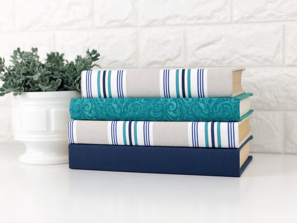 Turquoise Book Set of Home Decor