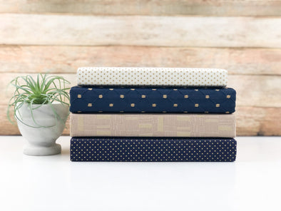 Blue and Cream Decorative Books