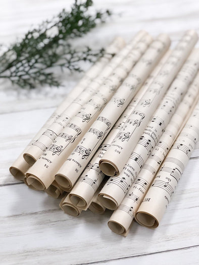 Vintage Music Sheets Rolled
