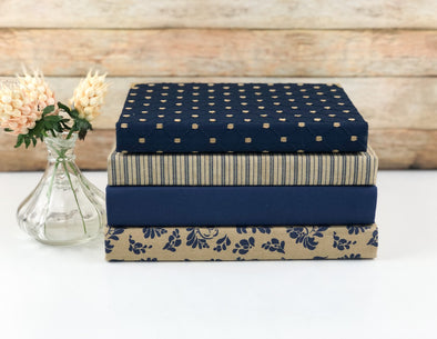 Navy Blue Vintage Shelf Decor