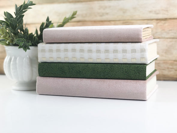 Pink and Green Shelf Decor