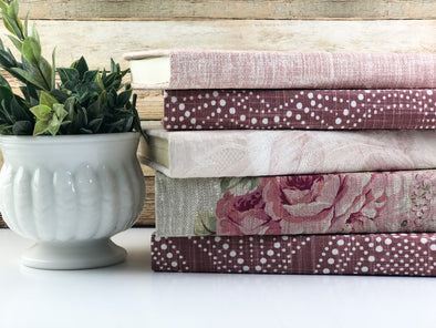 Blush Decorative Books for Shelf Decor
