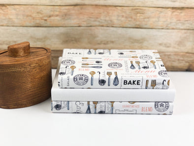 Kitchen Fabric Covered Books