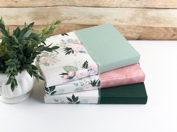 Fabric Covered Books / Books for Shelf Decor