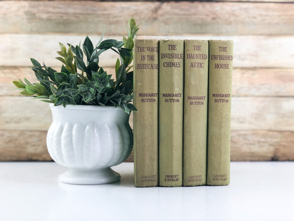 Green and Pink Vintage Books