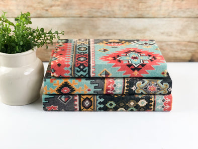 Decorative Books / Fabric Covered Books / Book Decor