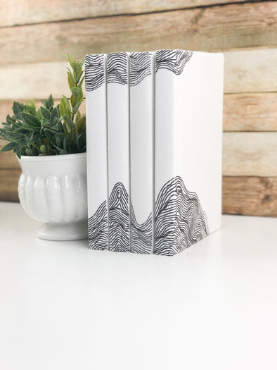 Black and White Decor / Book Stack for Decor